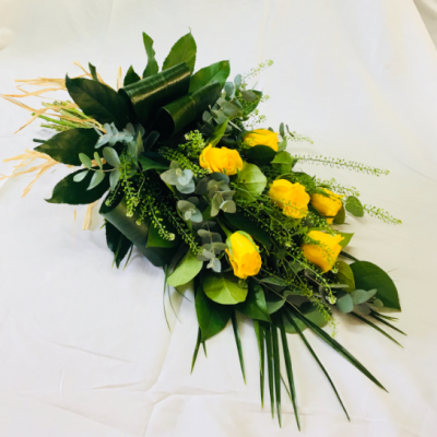 Simple Rose Sheaf - Yellow Flowers