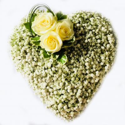 Heart Casket Flowers Adornment