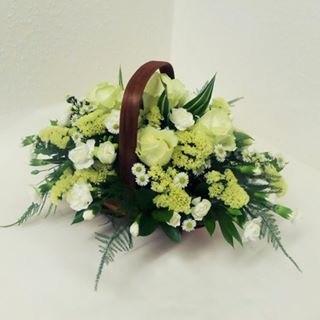 Mixed Basket - White Flowers