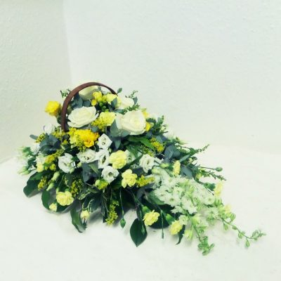 Mixed Basket - Yellow and White Flowers
