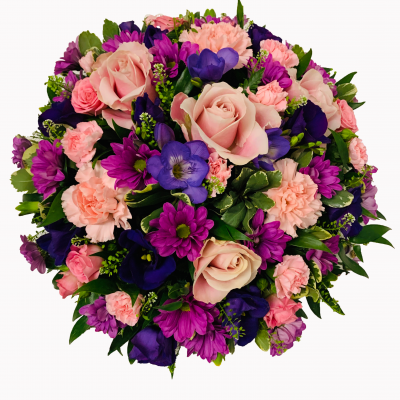 Classic Posy - Lilac and Pink Flowers