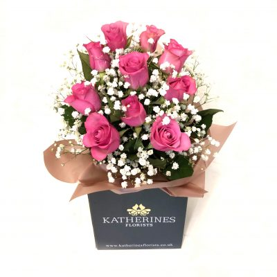 Perfectly Pink Roses Flowers Bouquet