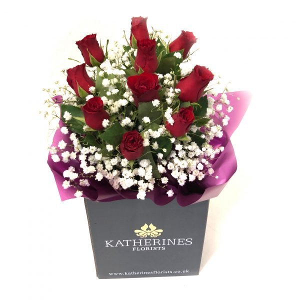 Ruby Red Roses Flowers Bouquet