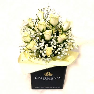 Wonderful White Roses Flowers Bouquet