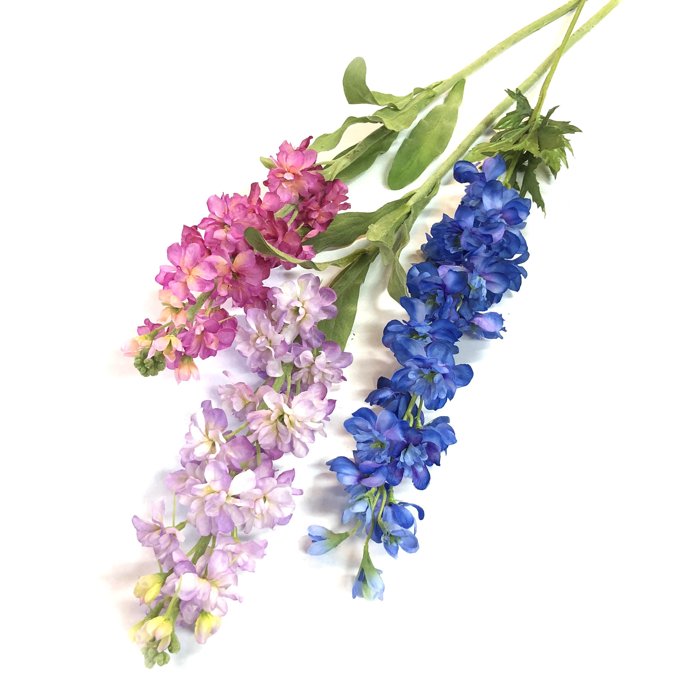 Silk Delphiniums Katherines Florists