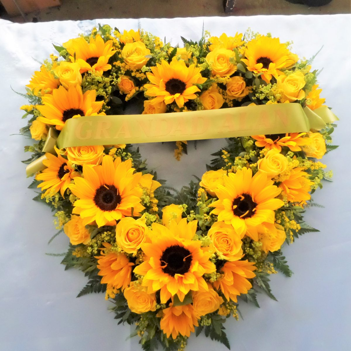 Bespoke heart tributes katherines florists bespoke heart tributes izmirmasajfo