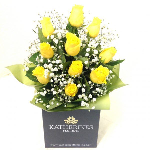 Sunshine Yellow Roses Flowers Bouquet