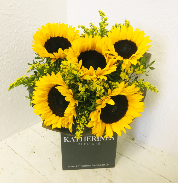Here Comes The Sunflowers Bouquet