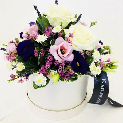 Sympathy Flowers Hatbox