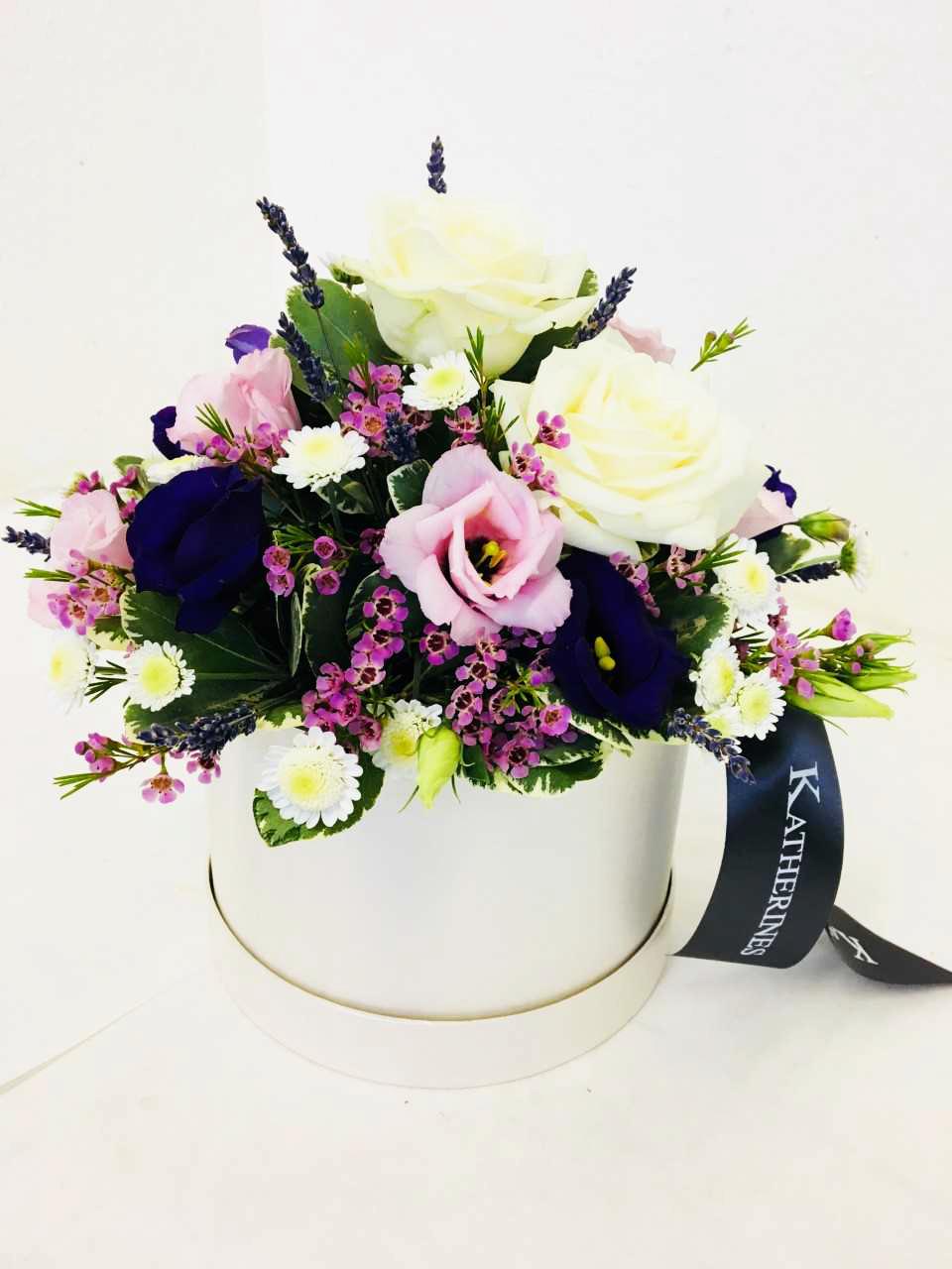 Sympathy Flower Hatbox Katherine S Florists