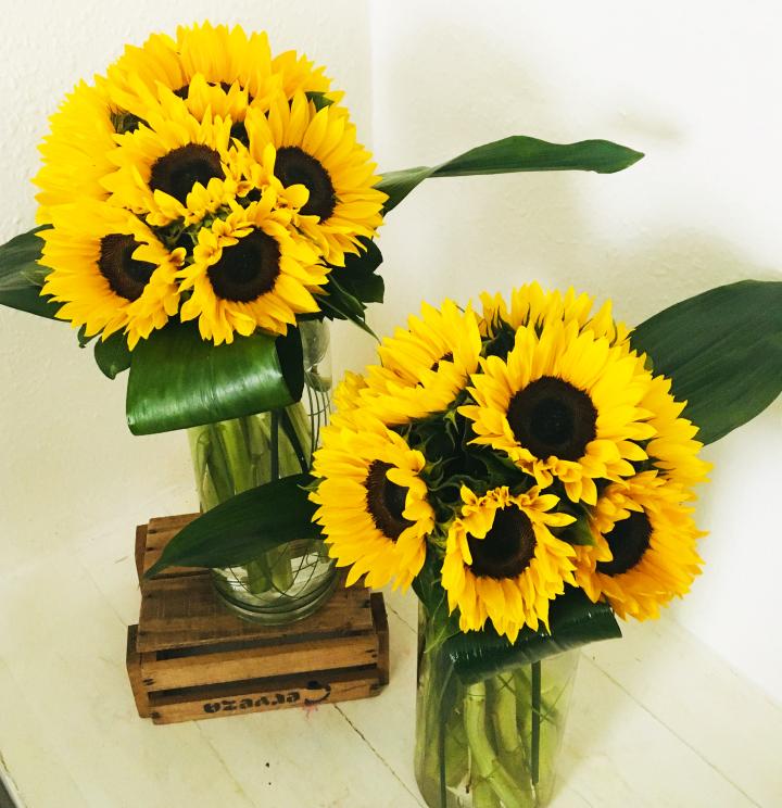 Stylish Sunflower Vase Katherines Florists