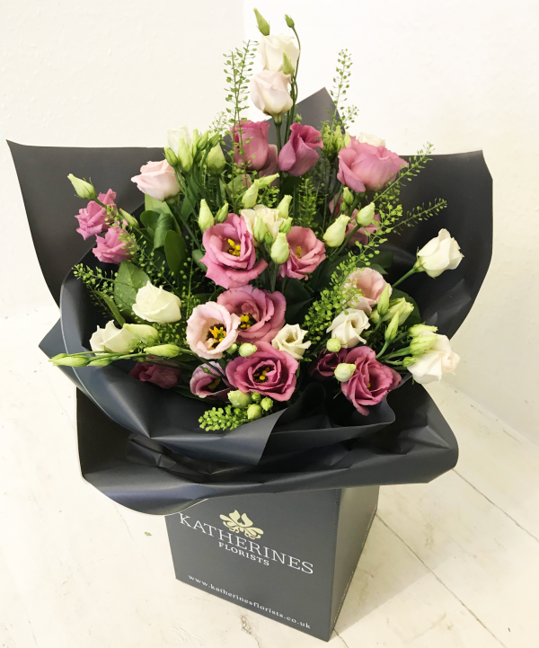 Perfectly Pink Lisianthus Flowers Bouquet
