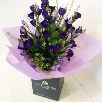 Pretty Purple Lisianthus Flowers Bouquet