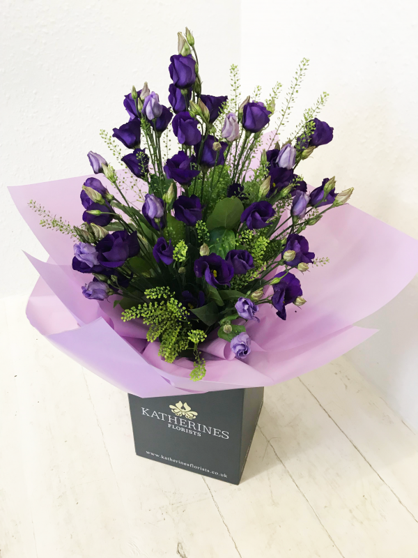 Pretty Purple Lisianthus Flowers Bouquet