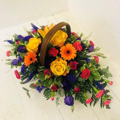 Mixed Flowers Basket - Vivid Flowers