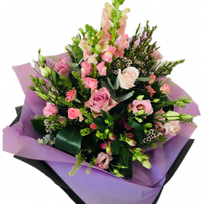 Bespoke Perfectly Pink Hand-Tie Flowers Bouquet