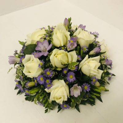 Rose and Freesia Posy-Pink, Lilac Flowers
