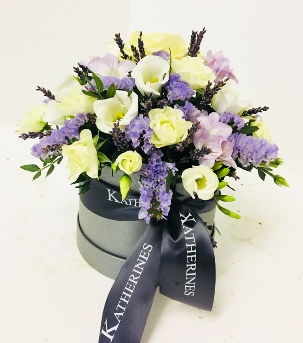 Lovely Lilac Lavender Flowers Hatbox