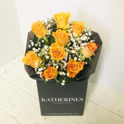 Orange Crush Roses Bouquet