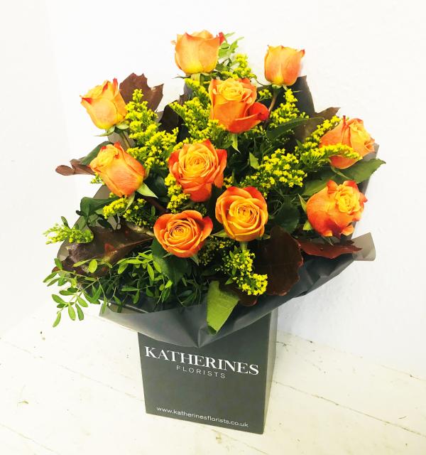 Luxury Large Headed Orange Roses