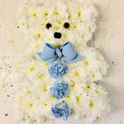 Teddy Bear Funeral Flowers Tribute