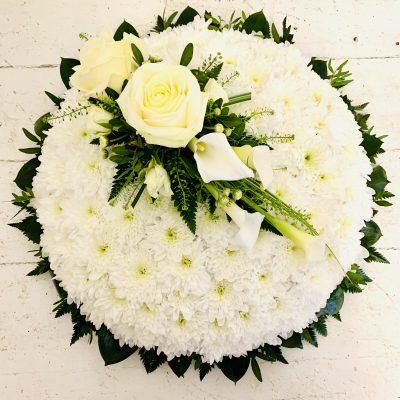 White Posy with Luxury White Rose