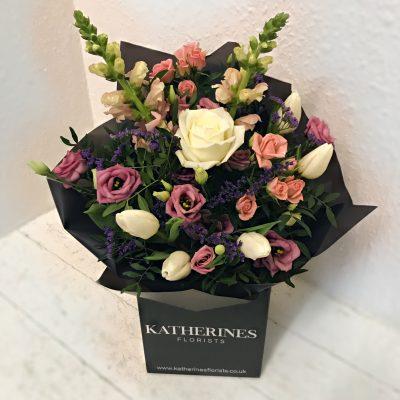 Pastel Country Garden Hand-Tie Flowers Bouquet