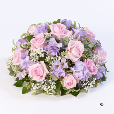 Rose and Freesia Posy-Pink, Lilac