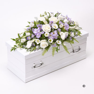 Children's Casket Spray- Blue and Lilac