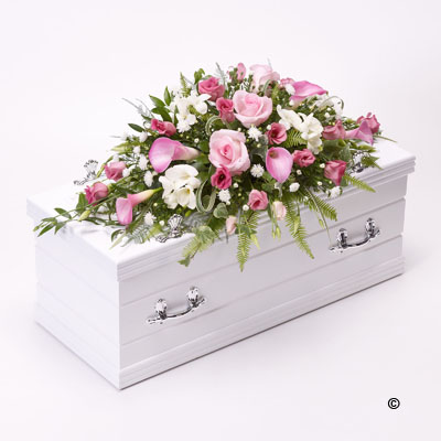Children's Casket Spray- Pink