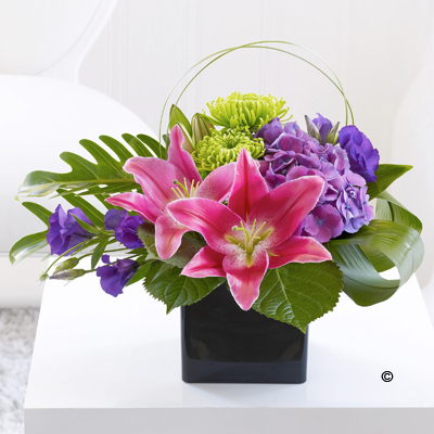 Lily & Hydrangea Arrangement