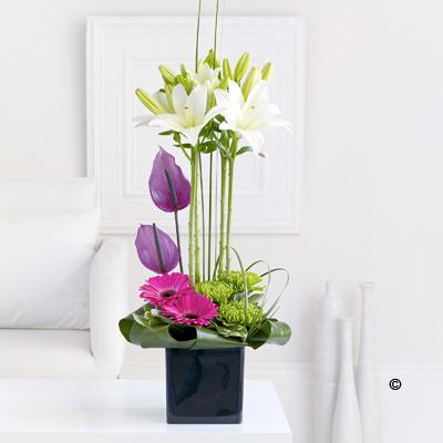 Lily & Anthurium Arrangement