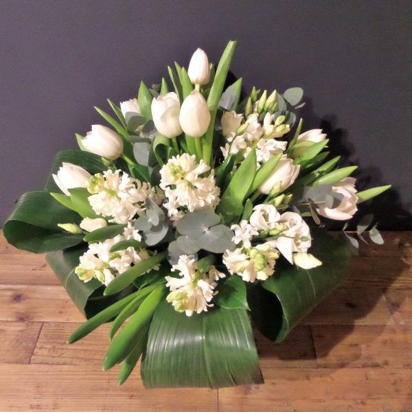 Scented Bespoke White Spring Hand-Tied