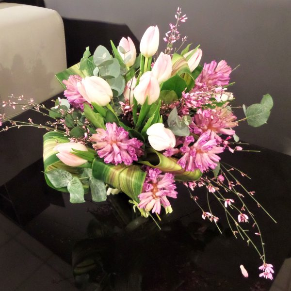 Scented Bespoke Pink Spring Hand-Tied