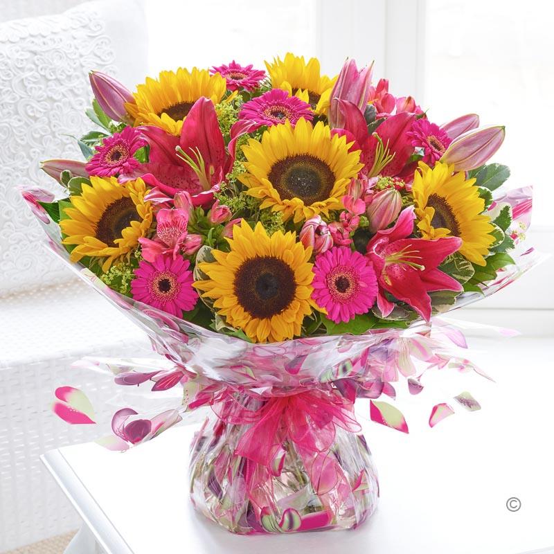 Sunflower Celebration Hand-tied