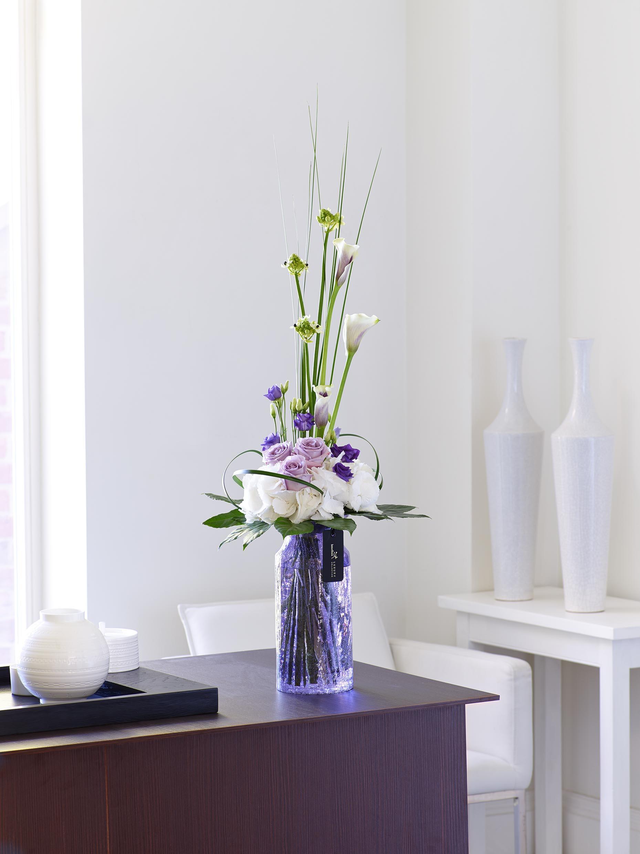 Luxury Lilac Rose, Calla Lily & Lisianthus Vase