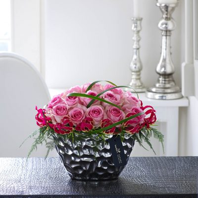 Luxury Pink Rose & Gloriosa Arrangement