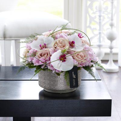 Luxury Pink Hydrangea, Orchid & Rose Arrangement