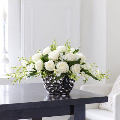 Luxury White Orchid Arrangement