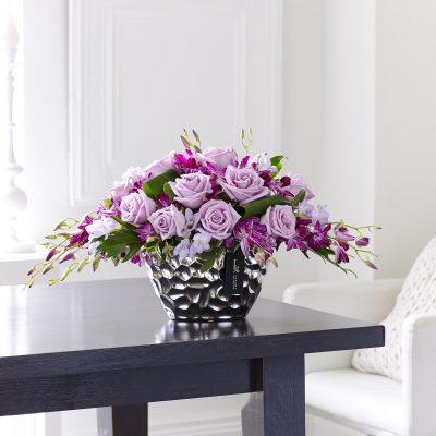 Luxury Purple Orchid Arrangement