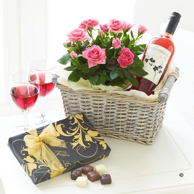 Luxury Rosé Wine Gift Basket