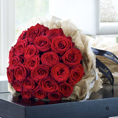 Luxury 24 Red Rose Hand-tied